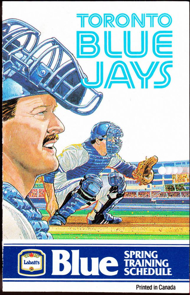 1989 TORONTO BLUE JAYS LABATTS BLUE BASEBALL SPRING TRAINING POCKET SCHEDULE #Schedule