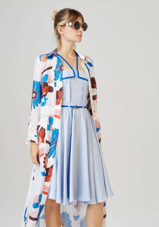 LELLE - multi strap dress  ALSOORS - long shirt