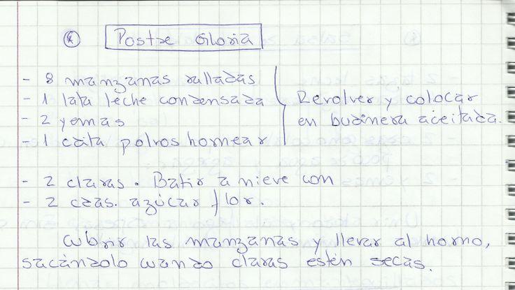 POSTRE GLORIA   #DULCE #POSTRES #BUDIN #MANZANA