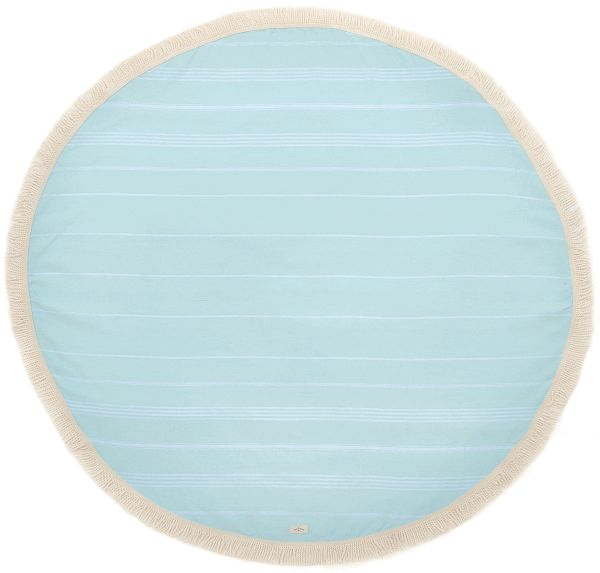 The Greenwich Round Blanket | Just as pretty as the coastal Connecticut town that it's named after, the soft yet rich hue of seafoam is sure to impress!