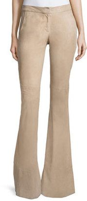 Alexis Rania Suede Flare Pants, Clay - Shop for women's Pants - CLAY Pants