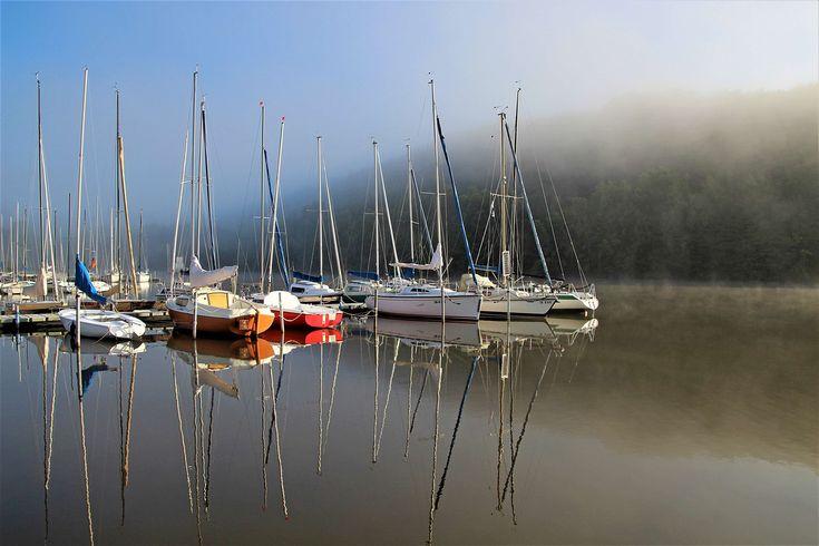 #blue #fog #lake #masts #mood #morning haze #morning mist #sail #sail masts #sailing boats #sky #summer #water #water sports #yachts