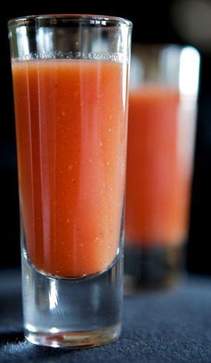 Sangrita - a tequila accompaniment made from delicious. Tomato juice, plain clamato, lime juice, orange juice, pinch of sugar, hot sauce, horseradish, season to taste. AMAZING.