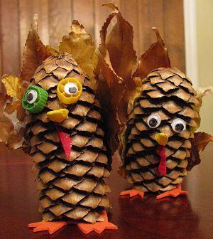 Pinecone Turkeys #Thanksgiving