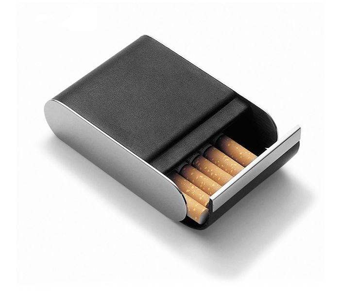 Stainless Steel Leather Cigarette Case VC-1088