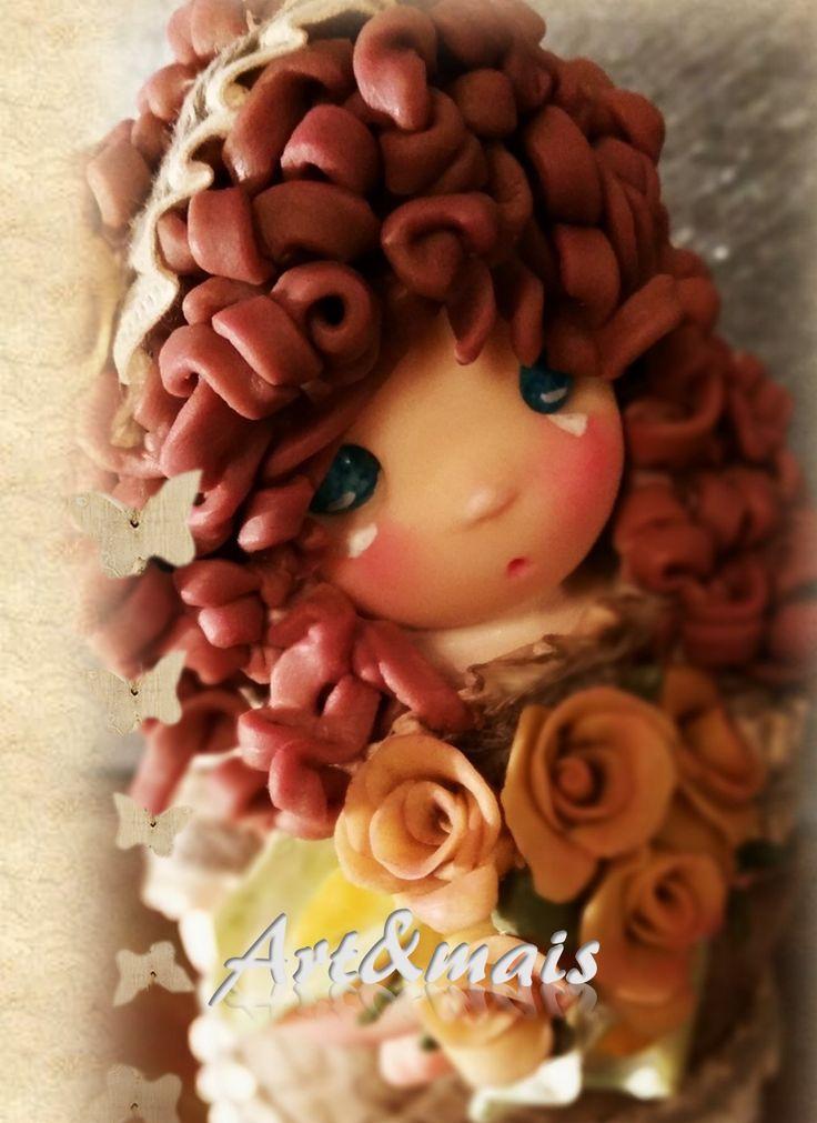 Charlotte: doll di Art&mais/ Doll in pasta di mais/ porcelana fria/ cold porcelain/ polymer clay/ bamboline in pasta di mais/ oggetti fai da te/ idee regalo/ porcellana fredda https://it.pinterest.com/pin/783978247602834608/