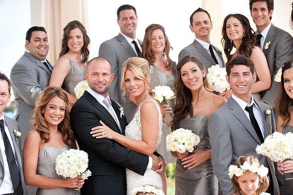 Grey bridal party. Gorgeous.