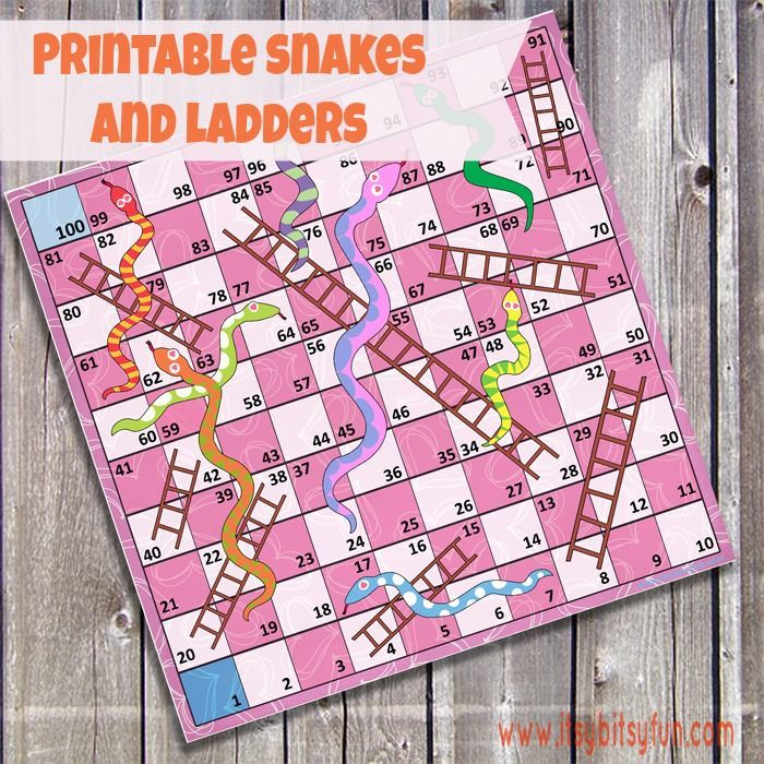 Snakes & Ladders make counting to 100 fun! Not only are Snake & Ladders super fun to play they also help our kids to learn counting to 100.