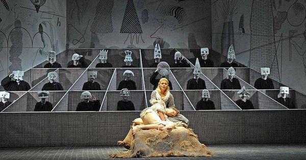 Glyndebourne's produ - Glyndebourne's production of The Rake's Progress with designs by David Hockney. --- #Theaterkompass #Theater #Theatre #Schauspiel #Tanztheater #Ballett #Oper #Musiktheater #Bühnenbau #Bühnenbild #Scénographie #Bühne #Stage #Set