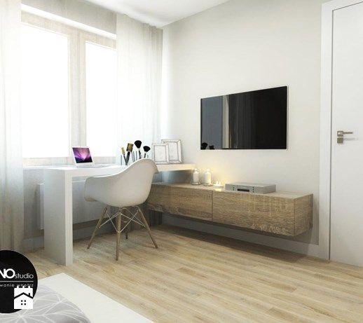 przestrzeń & faktura - Średnia sypialnia małżeńska - zdjęcie od MONOstudio
