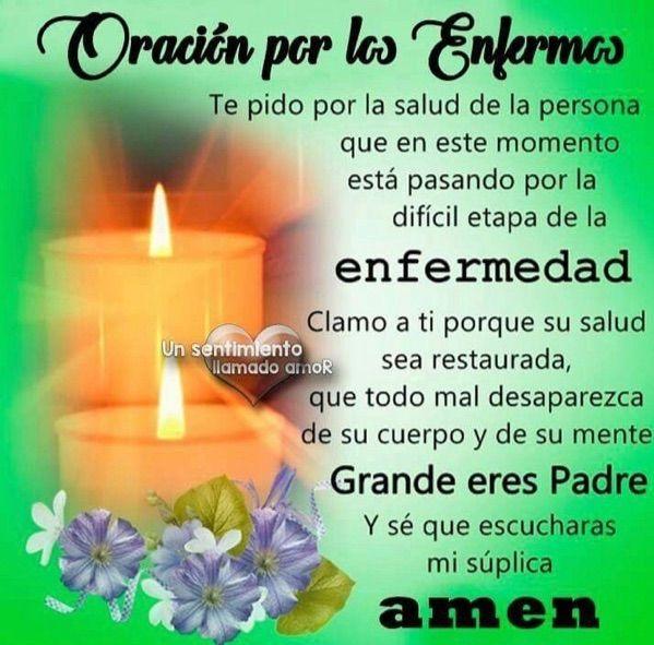#Oración #cristiana para pedir #salud por los #enfermos. AMEN.