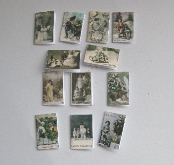 Set of  Victorian Photographic Christmas cards