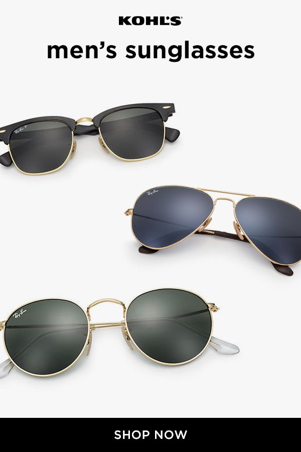 6b363479a3 Shop men s Ray-Ban sunglasses at Kohl s for effortless style. Plus ...