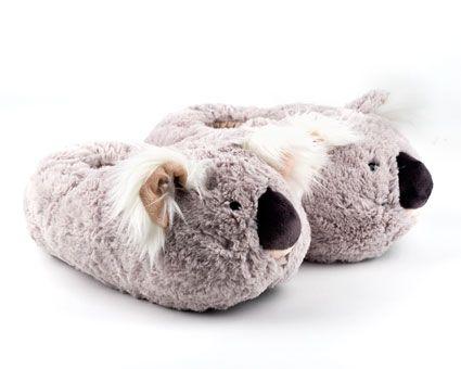 Fuzzy Koala Slippers | Fuzzy Friends Animal Slippers | BunnySlippers.com