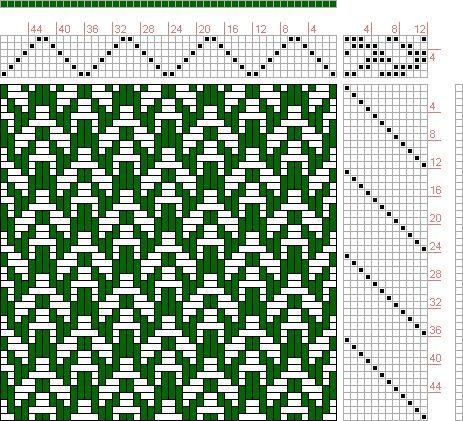 Hand Weaving Draft: Page 66, Figure 37, Bindungs-Lexikon für Schaftweberei, Franz Donat, 6S, 12T - Handweaving.net Hand Weaving and Draft Archive