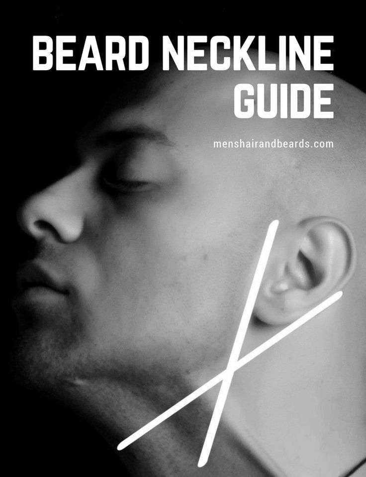 A beard neckline guide that will help you learn the perfect spot to start trimming your beard.