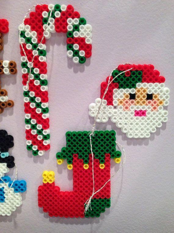 Perler bead Christmas Ornament set by katie822