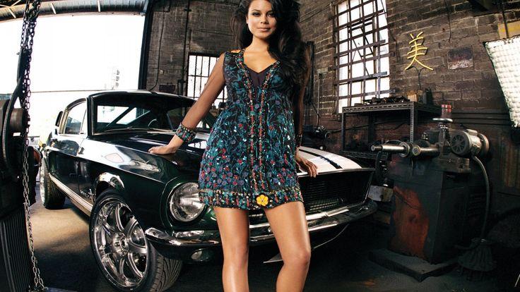 coches Mujeres Nathalie Kelley Ford Mustang fondo de pantalla Tokyo Drift 2560x1600