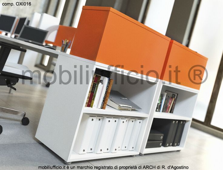 OXI016 #bench per #ufficio #operativo con 4 postazioni disponibili in diverse dimensioni.