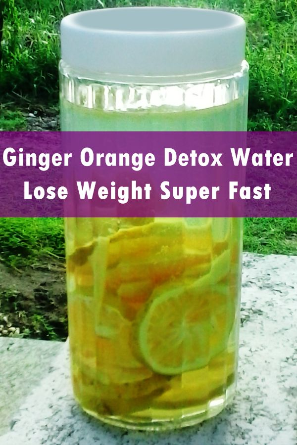 It is time for you to burn that body fat, lose some weight, get rid of bloat in your belly, flush the toxins out of your body and reset your metabolism with this natural ginger orange detox water...