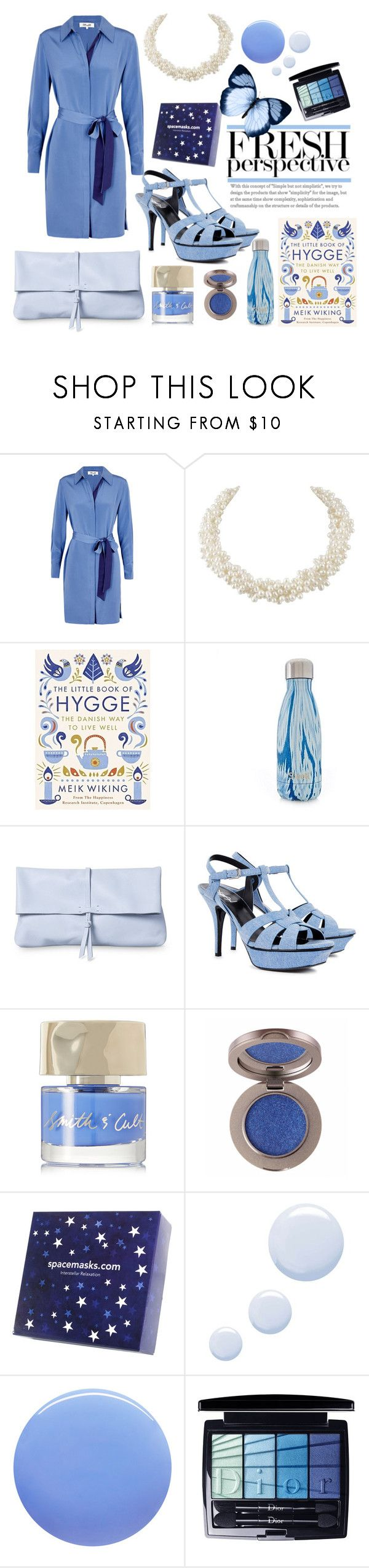 """""""6th September 2017"""" by eternal-collection ❤ liked on Polyvore featuring Diane Von Furstenberg, Yves Saint Laurent, Smith & Cult, Topshop and Christian Dior"""