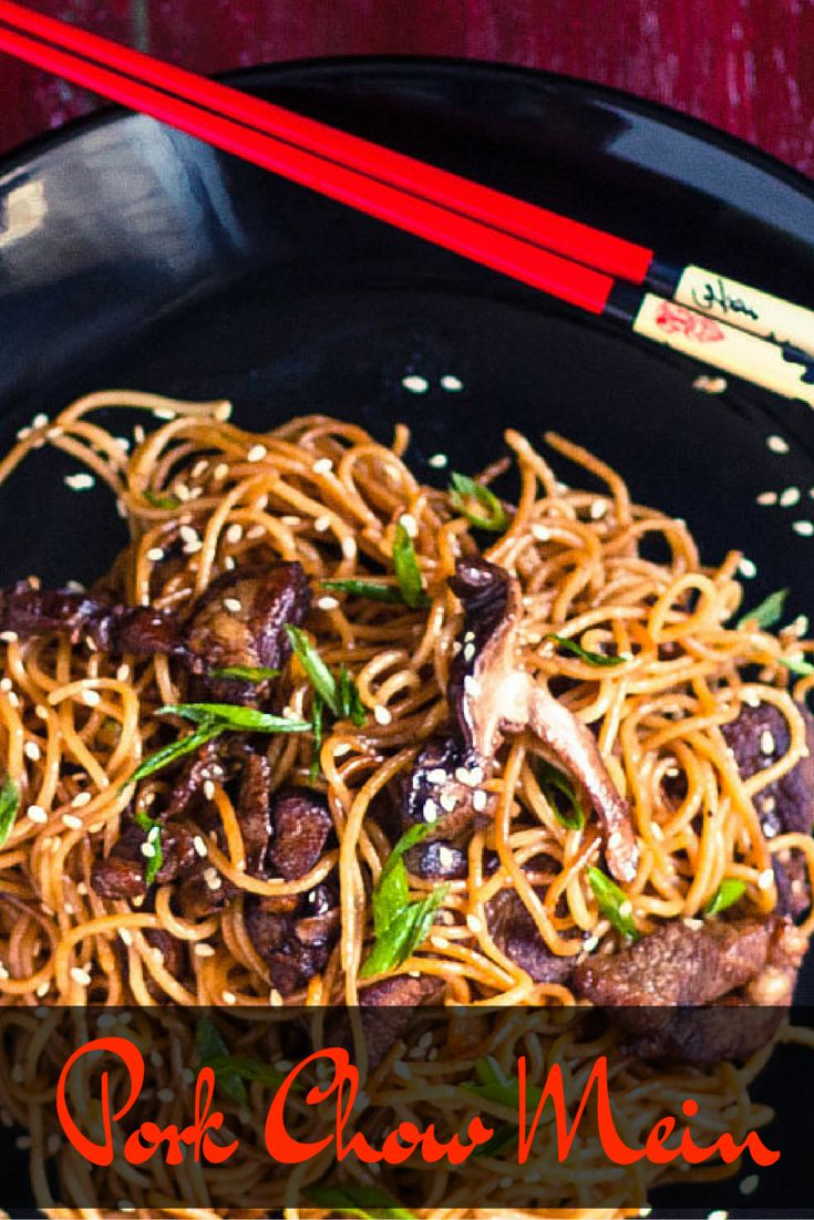 Try quick and easy Pork Chow Mein at home instead of take-out!