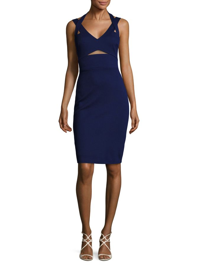 Halter Cut Out Sheath Dress from New Markdowns: For Her on Gilt