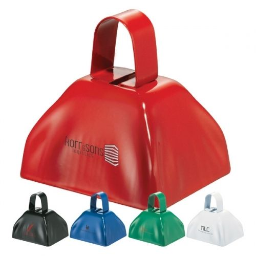 Make some noise for your next promotion with the Ring-A-Ling Promotional Stadium Cowbell. Great for sports fundraisers or just to build team spirit. Everyone needs more cowbell!