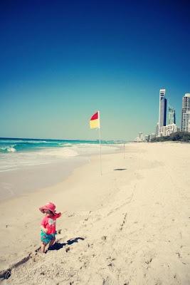 Beach, buildings & babes