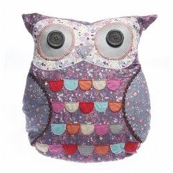 Owl Cushion: Owl Pillows, Kussen Uil, Purple Owl, Floral Owl, Vintage Floral, Belle, Owl Cushions, Owls, Kids Rooms