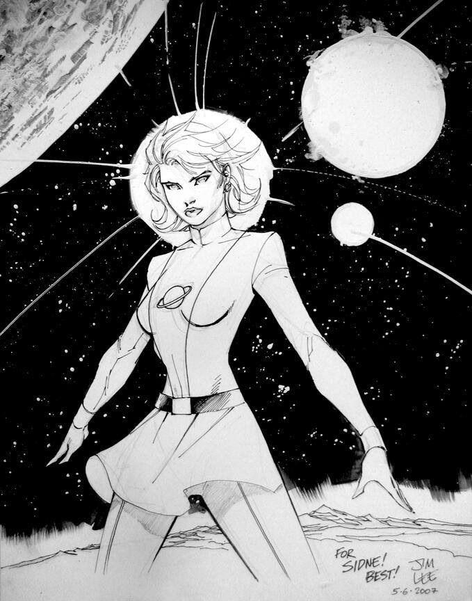 Saturn Girl by Jim Lee
