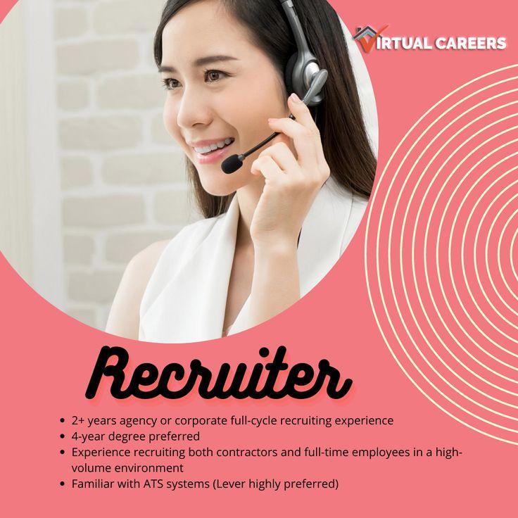 Recruiter needed!!! Apply here https//virtualcareers
