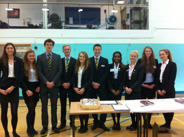 Senior Prefects were on hand to welcome  visitors.