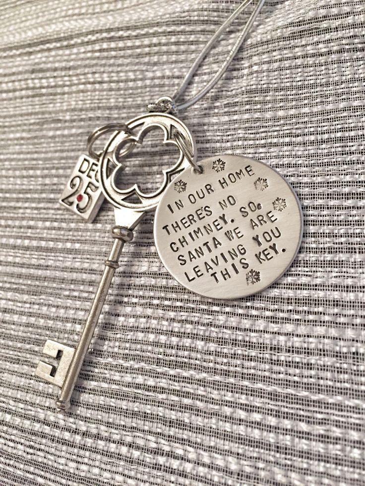 Santa's Magic Key, Santa Key, Christmas Key, Santa Claus Key, Santa Key for Christmas, No chimney, personalized santa message by HandToHeartJewelry on Etsy https://www.etsy.com/listing/249477288/santas-magic-key-santa-key-christmas-key