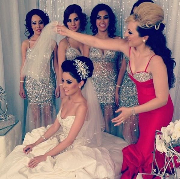 My kinda bridal party. Be confident and dress ur bridesmaids sexy ladies! No more unflattering dresses and stuff. >.< hahah.