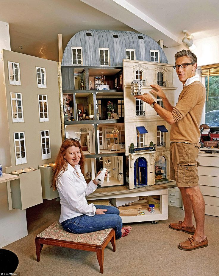 Proud creators: Art historians Susie and Ken spent a year working on the miniature,
