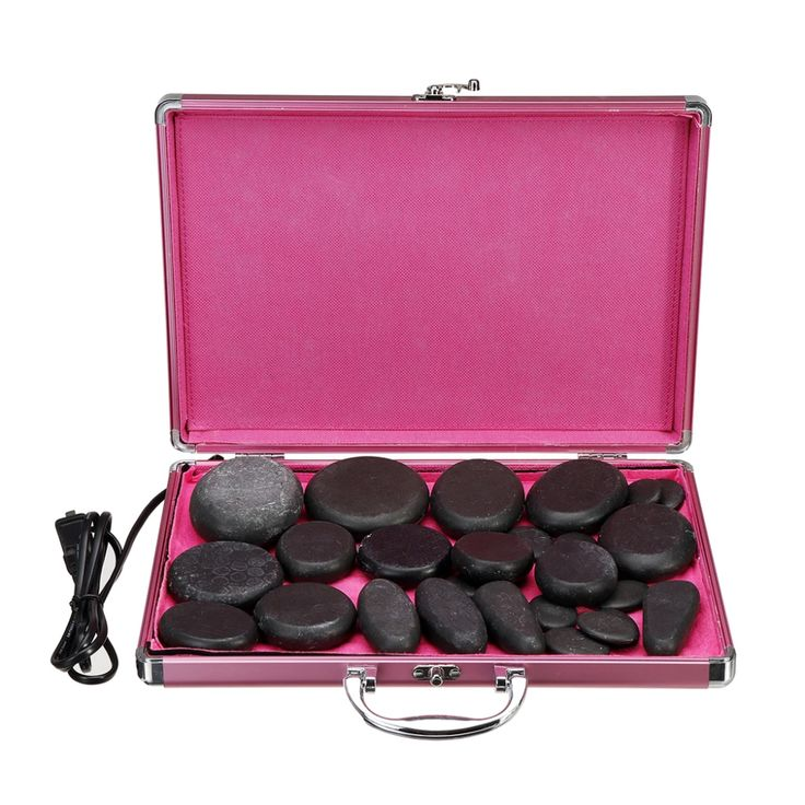CalmStone™ Hot Stone Spa Massage Muscle Therapy 24Pcs Set ...