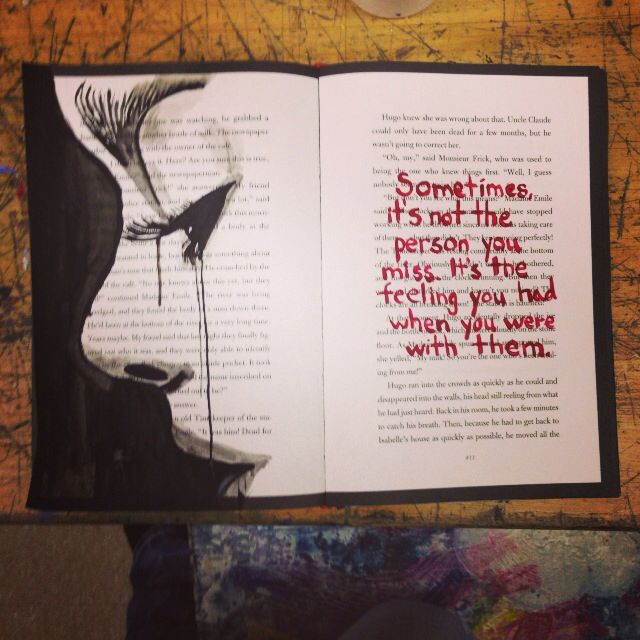 sometimes its not the person you miss its the feeling you had when you were - Book Pages Art
