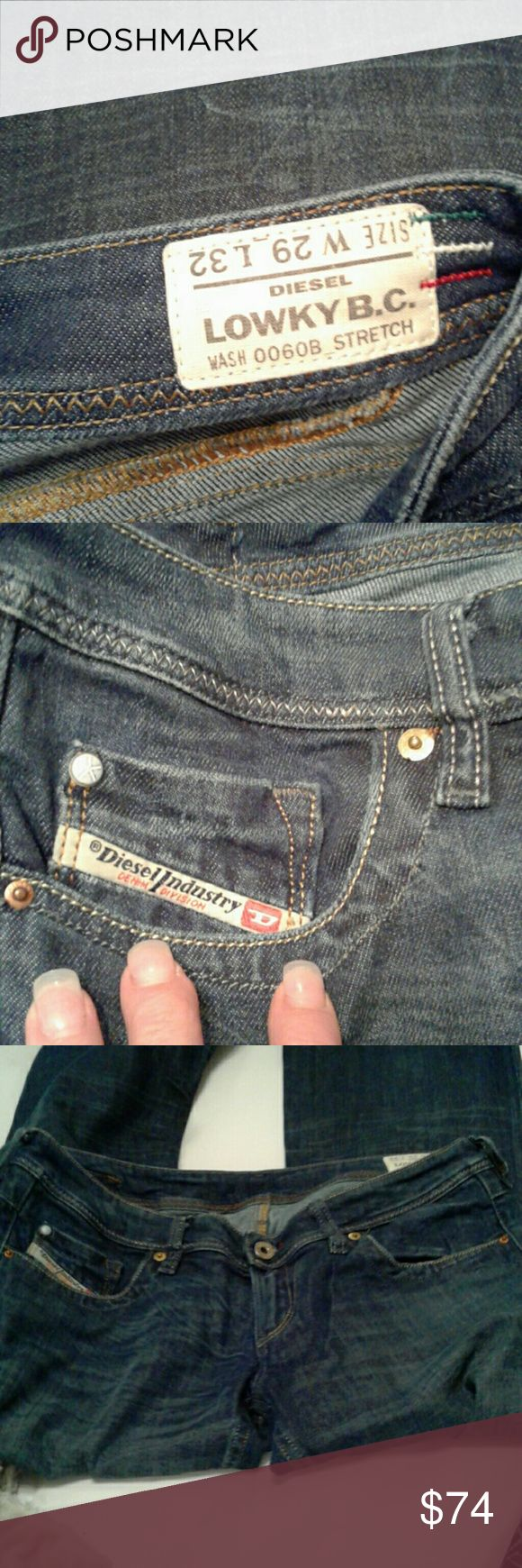 Diesel boot cut jeans!  29x32 Great pocket detail, well cared for, lasts a lifetime! Diesel lowly bc Jeans Boot Cut