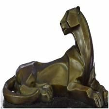 Bronze *DEAL* Sculpture *SALE* Statue Handcrafted Henry Moore Mountain Lion F i