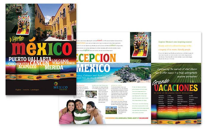 Mexico Travel Brochure Design Template by StockLayouts - sample hotel brochure