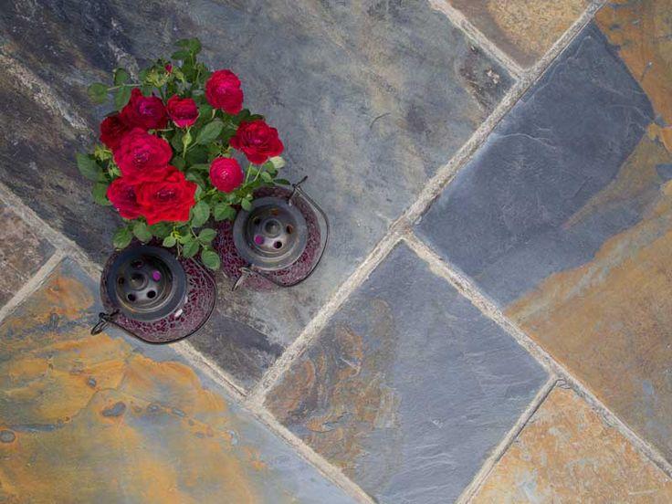 Copper Slate paving slabs