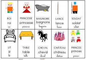 le tout petit roi : associer chaque image à son étiquette mot dans les 3 graphies – MC en maternelle
