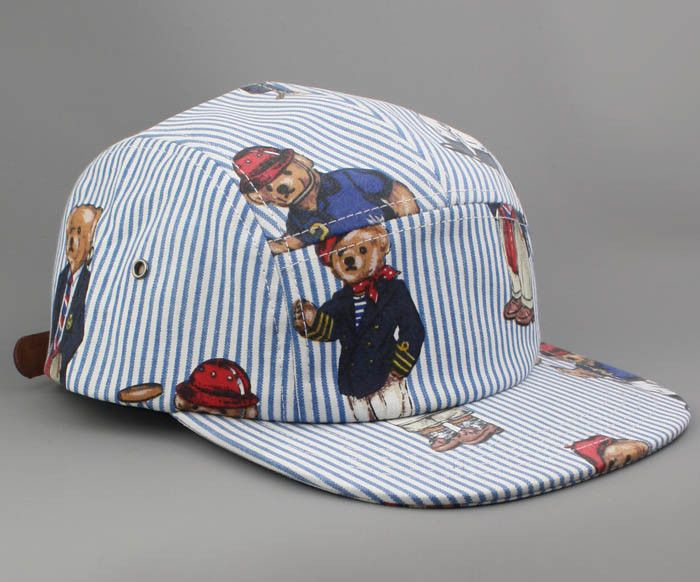 b681bdf5e35 Ralph Lauren Polo Bear Custom 5 panel camp cap hat snapback NEW  Bucket