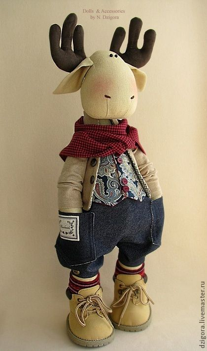 Ashton. Stylish guy :) - elk, moose toy, toy stylish, stylish gift