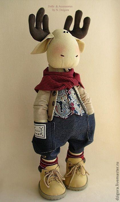 Ashton. Stylish guy :) - elk, moose toy, toy stylish, stylish gift