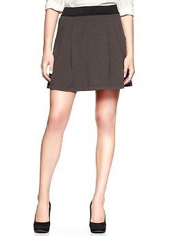 Ponte flare skirt   Gap $45: Gap Thegap, Flare Skirt, Outfit, Thegap Flare, Charcoal Skirt, Dresses Skirts, Skirt Gap