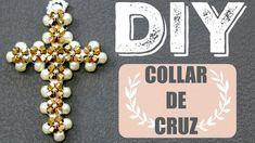 DIY! COLLAR DE CRUZ PARA REGALAR! DIY CROSS NECKLACE PAOLA HERRERA - YouTube