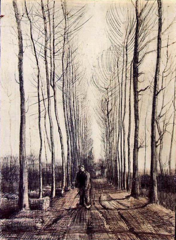 van gogh...his drawings are to die for. LINES!!!!