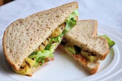 Ananas sandwich met bacon
